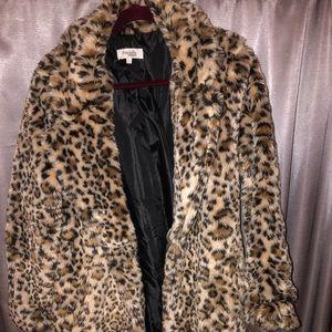 Cheetah print fur jacket!